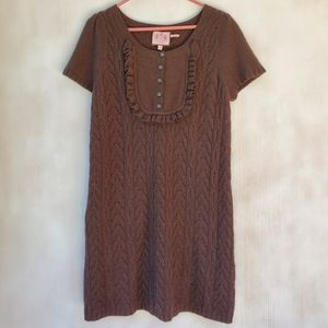 Brown Juicy Couture Wool Cashmere Sweater Dress
